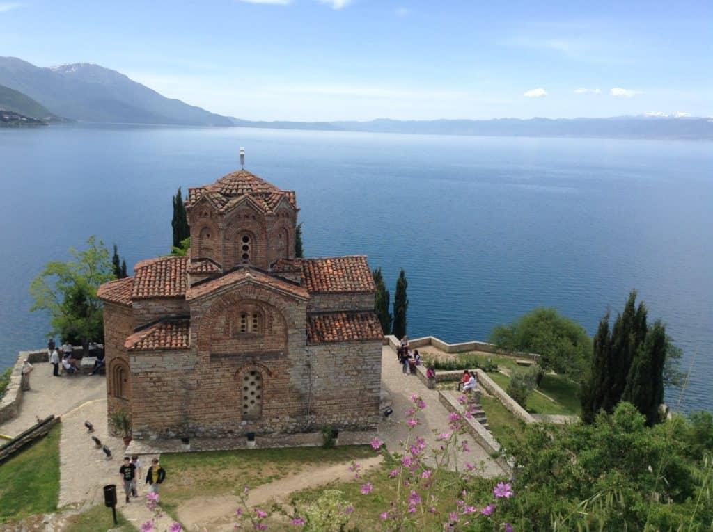 Cestopis Makedonie - Ohridské jezero - Kostel sv. Jovan Kaneo