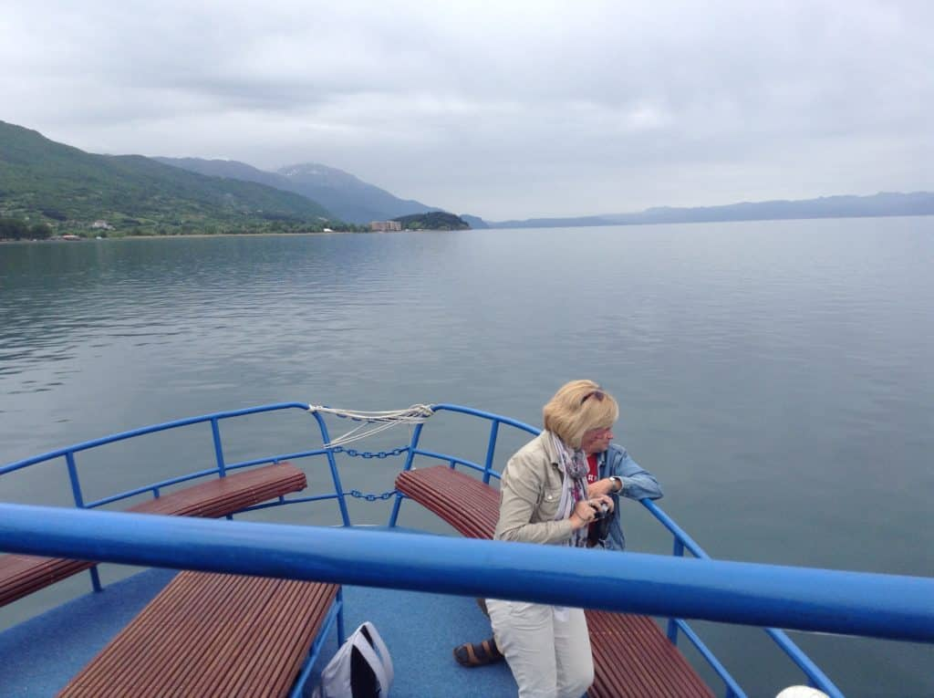 Cestopis Makedonie - Ohridské jezero - jízda na trajektu