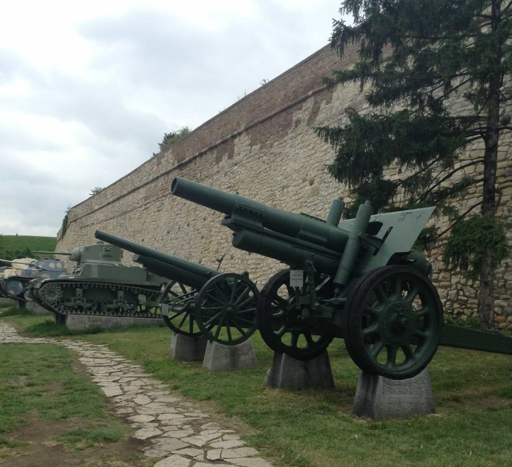 Cestopis Bělehrad - Pevnost Kalemegdan - děla