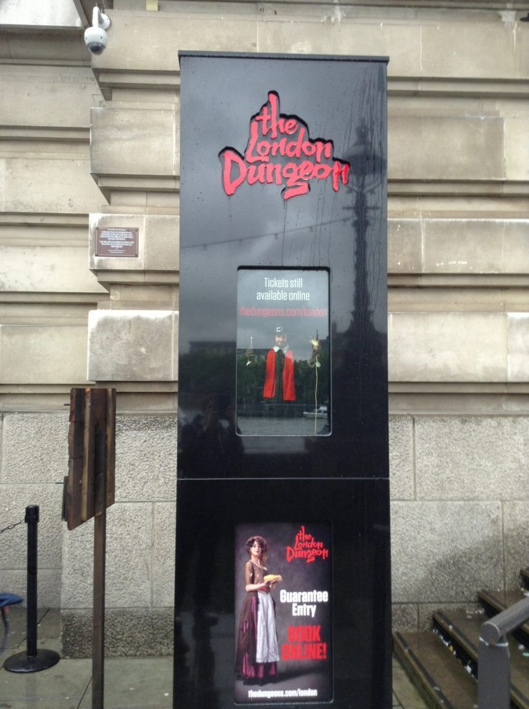 London Dungeon, cestopis Anglie