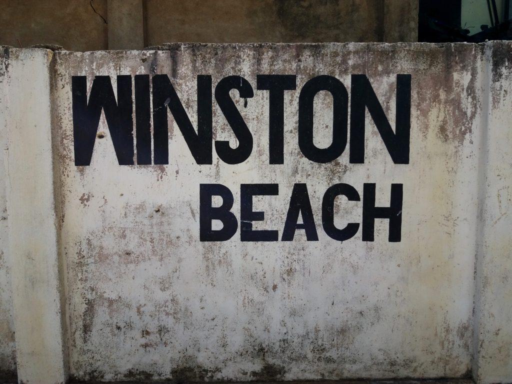 Negombo beach, Negombo, cestopis Srí Lanka