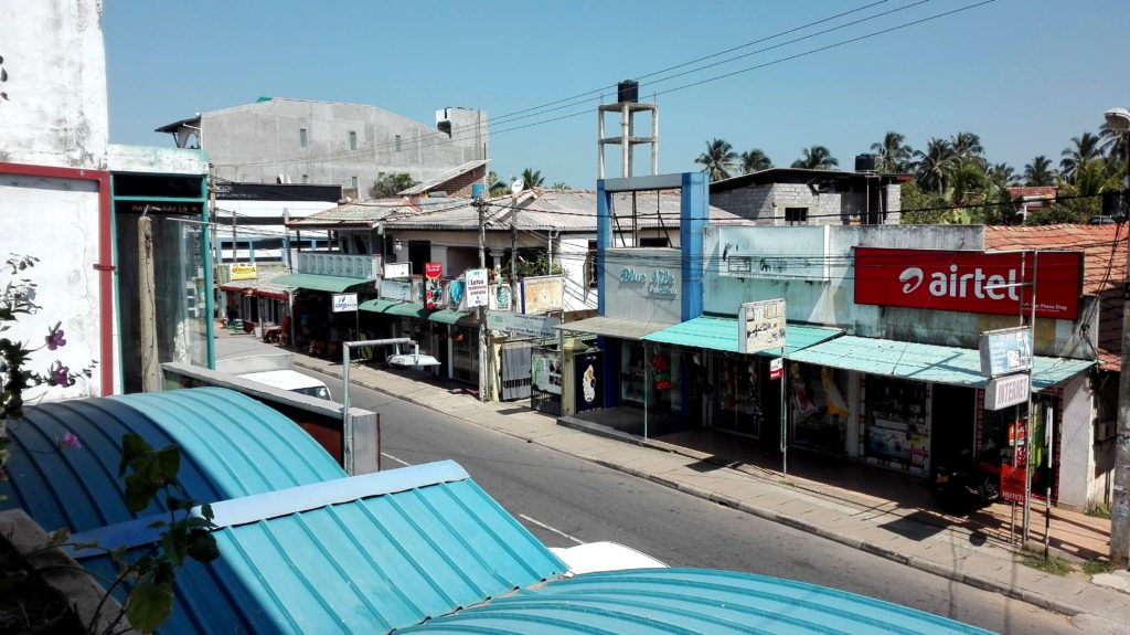 Negombo - pohled z ubytování - cestopis Srí Lanka
