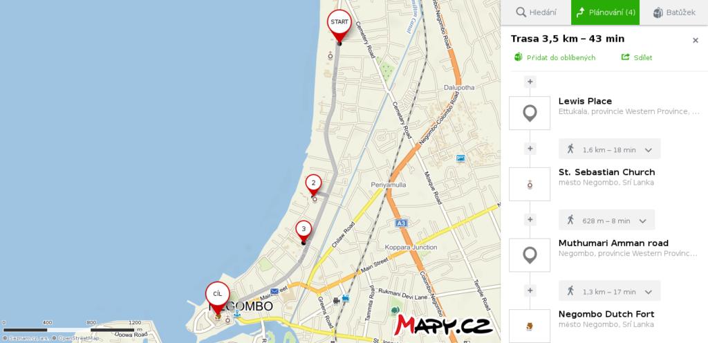 Mapa Negombo