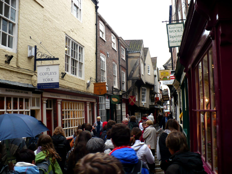 The Shables, příčná ulice - York - cestopis Anglie