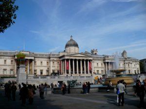 Národní galerie, Trafalgar Square, Londýn - Cestopis Severovýchodní Anglie,