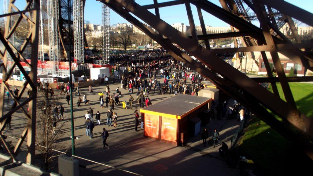 Paříž - cestopis, pohled na frontu