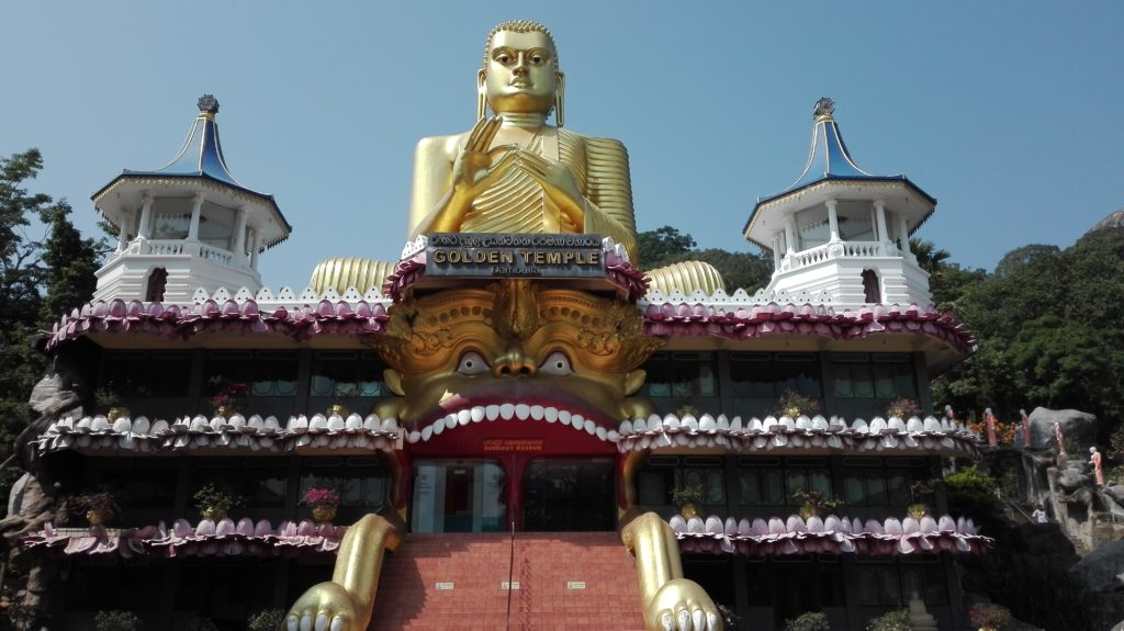 Dambulla Golden Temple, cestopis Srí Lanka