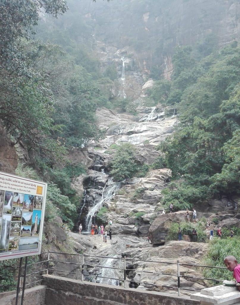 Ravana Falls, cestopis Srí Lanka