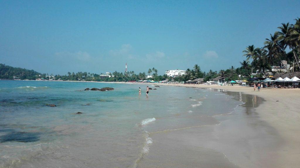Mirissa beach, cestopis Srí Lanka