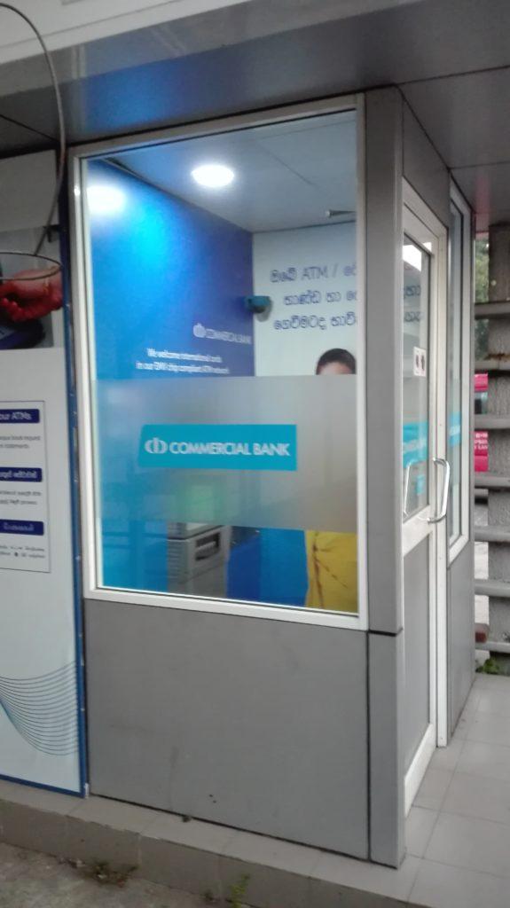 Bankomat Srí Lanka, výběr z bankomatu