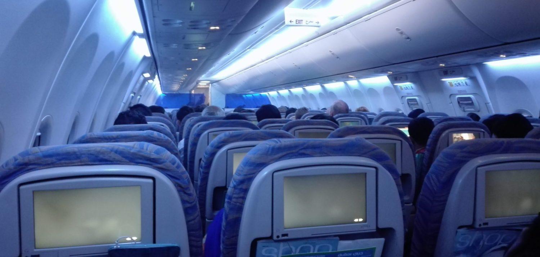 letadlo Boeing 737 uvnitř, recenze Flydubai
