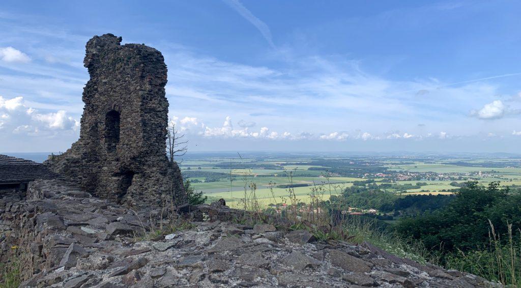 Severní část hradu Lichtenberk