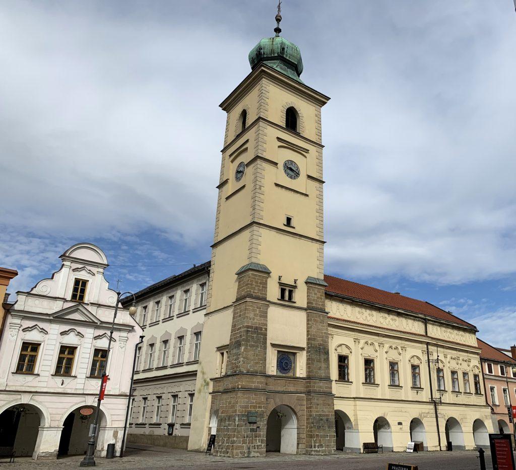 Radniční věž v Litomyšli na Smetanově náměstí
